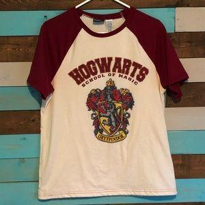 Men's Harry Potter Hogwarts Raglan T Shirt